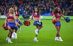 LONDON, ENGLAND - Sunday, November 23, 2014: Crystal Palace's cheerleader Malika of The Crystals before the Premier League match against Liverpool at Selhurst Park. (Pic by David Rawcliffe/Propaganda)