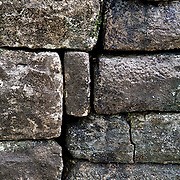This image is of stone work at Labaantun Mayan Ruins in Belize. Notice that no mortar was used to hold these blocks in place.