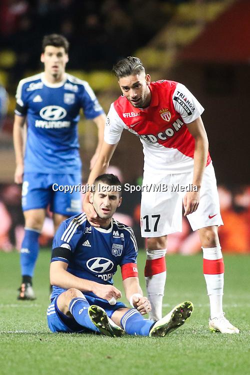 Maxime GONALONS / Yannick FERREIRA CARRASCO - 01.02.2015 - Monaco / Lyon - 23eme journee de Ligue 1 -<br />Photo : Serge Haouzi / Icon Sport