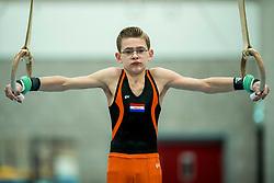 01-02-2018 NED: Reportage turner Bas Vuik, Eindhoven<br /> Portret Bas Vuik, turner van Flik Flak