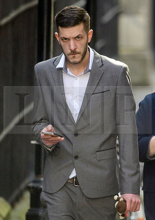 © Licensed to London News Pictures. 03/04/2017. London, UK. CHRIS GARD arrives at the The Royal Courts of Justice in London where a High Court judge is due to rule whether doctors can withdraw life-support treatment to his son, Charlie, who suffers from a rare genetic condition. Doctors at Great Ormond Street Hospital in London say eight-month-old Charlie should be left to die in dignity, but his parents have raised £1.2 million for specialist treatment in America.  Photo credit: Ben Cawthra/LNP