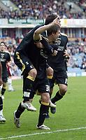 Photo: Paul Greenwood/Richard Lane Photography. <br />Burnley v Cardiff City. Coca-Cola Championship. 26/04/2008. <br />Cardiff goalscorer Aaron Ramsey celebrates equalising