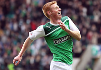 Football - Scottish Premier League -  Hibernian vs Dunfermline<br /> <br /> Eoin Doyleof Hibernian celebrates his goal during the  Hibernian vs Dunfermline Scottish Premier League match at Easter Road, Edinburgh on May 7tht 2012<br /> <br /> Ian MacNicol/Colorsport