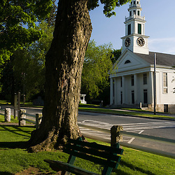 The town common in Grafton, Massachusetts.