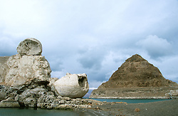 &quot;Pyramid Lake, Nevada&quot;- This is a photograph of both Stone Mother and Pyramid Rock at Pyramid Lake, Nevada. <br />
