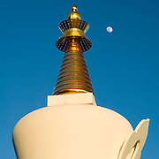 The Enlightenment Stupa is a Buddhist monument to peace, prosperity and harmony of the world, and a place for meditation.  It is the largest stupa in the western world, developed by Buddhist master, Lopon Tsechu Rinpoche, and Banalmadena Mayor, Enrique Bolín, and inaugurated on October 5th, 2005.