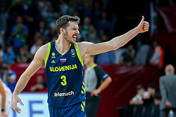 Goran Dragic of Slovenia reacts during basketball match between National Teams of Slovenia and Spain at Day 15 in Semifinal of the FIBA EuroBasket 2017 at Sinan Erdem Dome in Istanbul, Turkey on September 14, 2017. Photo by Vid Ponikvar / Sportida