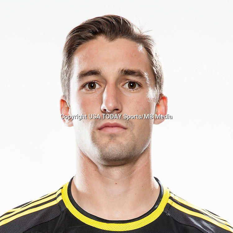 Feb 25, 2016; USA; Columbus Crew player Ethan Finlay poses for a photo. Mandatory Credit: USA TODAY Sports