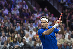 September 22, 2018 - Chicago, Illinois, U.S - during the second singles match between Team Europe and Team World on Day Two of the Laver Cup at the United Center in Chicago, Illinois. (Credit Image: © Shelley Lipton/ZUMA Wire)