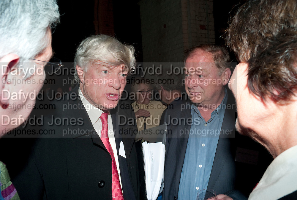 GEOFFREY ROBERTSON; ANTONY HOLDEN, Sir Harold Evans' My Paper Chase Book Launch. The Wapping Project, Wapping Hydraulic Power Station, London, 5 October 2009.