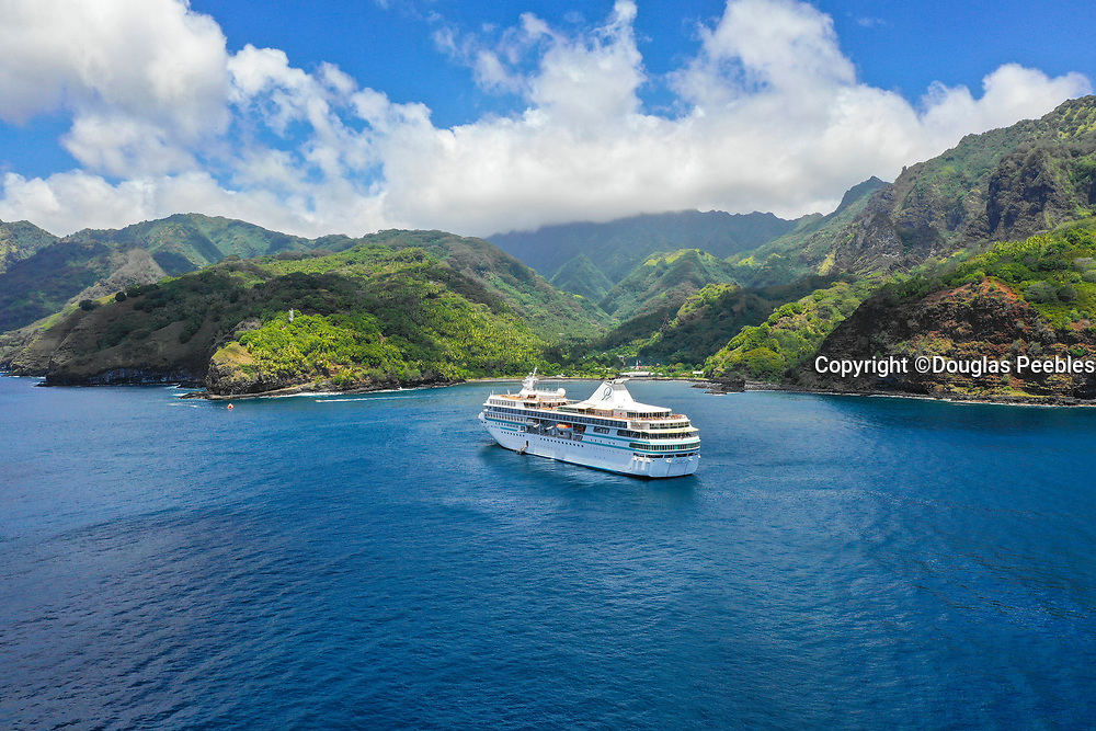 Paul Gauguin Cruise Ship, Omao, Fatu Hiva, Marquesas, French Polynesia, South Pacific