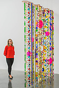 Marilola, 2010-15 - 'Rio Azul' by Beatriz Milhazes at White Cube Bermondsey. Her first solo show in London for almost a decade features new paintings, installation, sculpture, collage and live performance, as well as her first ever tapestry.