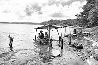 Family time on Lake Peten Itza Guatemala
