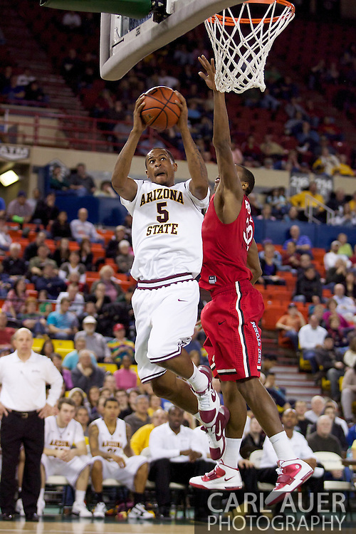 November 27th, 2010:  Anchorage, Alaska - Arizona State's Kyle Cain (5) puts up a shot in the Sun Devil's 58-67 loss to St. Johns in the championship game of the Great Alaska Shootout.