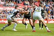Hull FC loose forward and captain Gareth Ellis (13) in action  during the Challenge Cup 2017 semi final match between Hull RFC and Leeds Rhinos at the Keepmoat Stadium, Doncaster, England on 29 July 2017. Photo by Simon Davies.