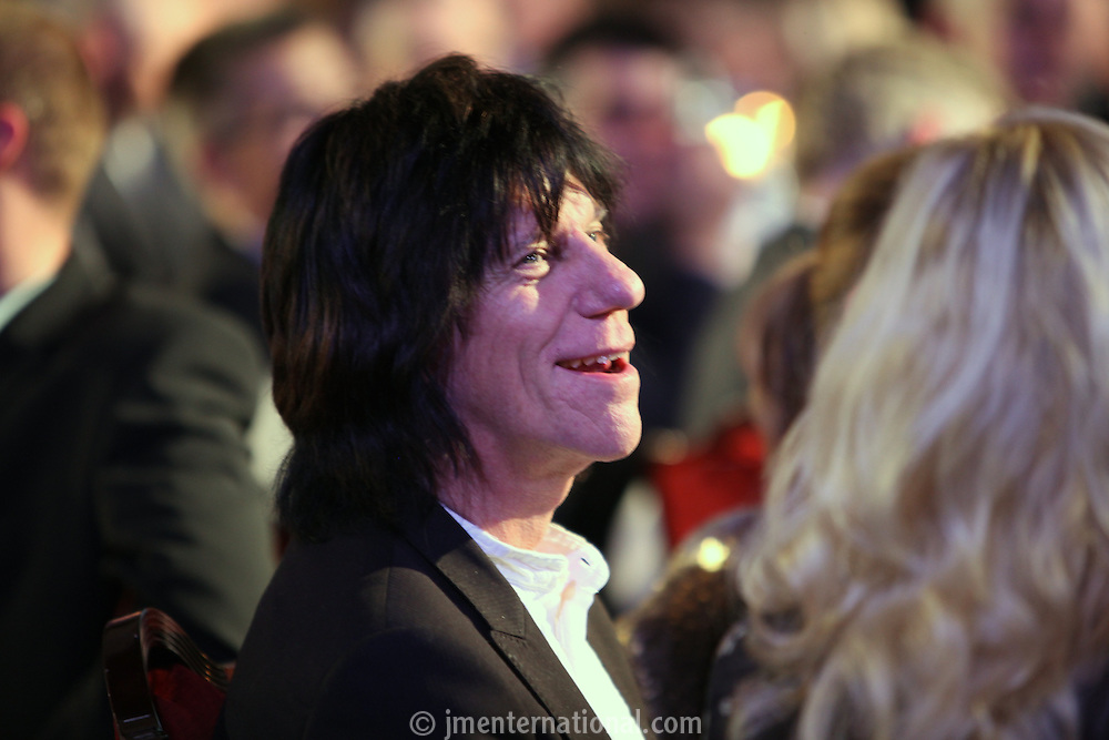 Jeff Beck, the 2011 MITs Award. Held at the Grosvenor Hotel London in aid of Nordoff Robbins and the BRIT School. Monday, Nov.7, 2011