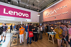 Lenovo stand featuring Yoga notebooks at 2016  IFA (Internationale Funkausstellung Berlin), Berlin, Germany