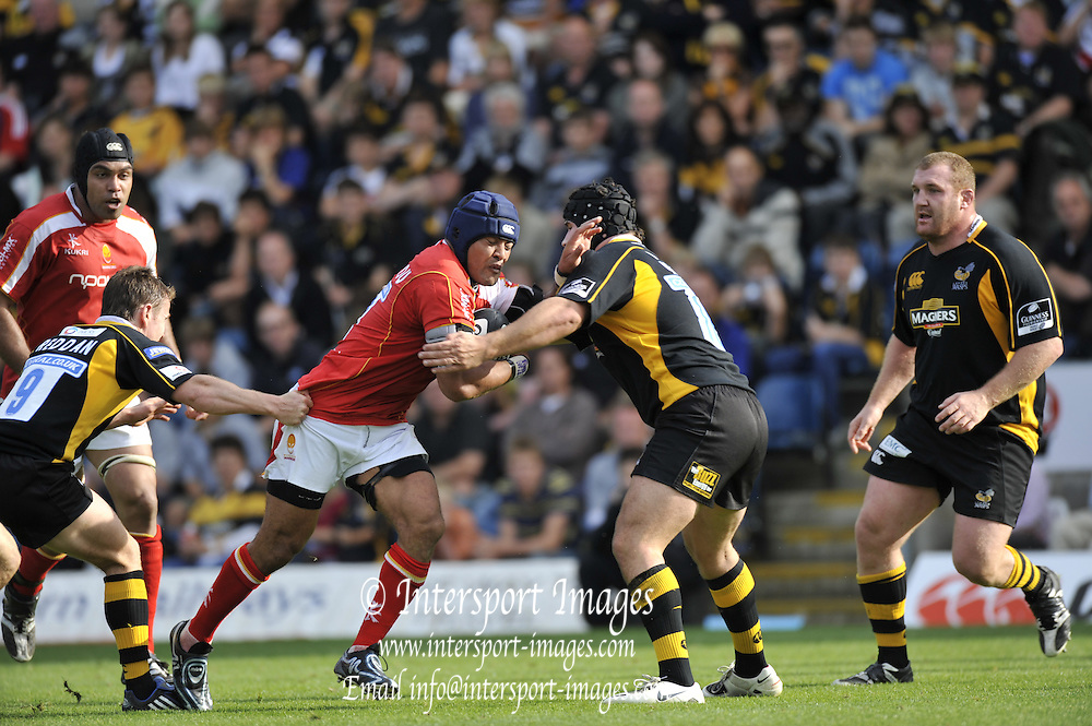 Wycombe, GREAT BRITAIN, Action,  Guinness Premiership match, London Wasps vs Worcester Warriors at Adam's Park Stadium, Bucks on Sun 14.09.2008. [Photo, Peter Spurrier/Intersport-images]