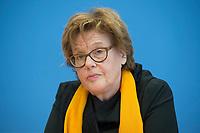 17 FEB 2016, BERLIN/GERMANY:<br /> Cornelia Fuellkrug-Weitzel, Pfarrerin und Praesidentin von Brot für die Welt, Pressekonferenz zum Thema Fluchtursachen von Asylsuchenden, Bundespressekonferenz<br /> IMAGE: 20160217-02-012<br /> KEYWORDS: Cornelia Füllkrug-Weitzel