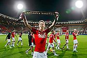 ALKMAAR - 27-08-15, Europa League,  2e voorronde,  AZ  - Astra GiurGiu, AFAS Stadion, 2-0, AZ speler Robert Muhren juicht na afloop, juichen.