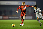 Josh Yorwerth takes shot at goal during the EFL Sky Bet League 2 match between Crawley Town and Grimsby Town FC at the Checkatrade.com Stadium, Crawley, England on 26 November 2016. Photo by Jarrod Moore.