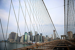 USA NEW YORK 6JUN10 - Skyline of Manhattan and Brooklyn Bridge in New York...jre/Photo by Jiri Rezac..© Jiri Rezac 2010