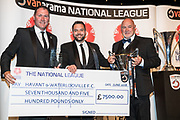 Havant and Waterlooville, winners of NL South during the National League Gala Awards Evening at Celtic Manor Resort, Newport, South Wales on 9 June 2018. Picture by Shane Healey.