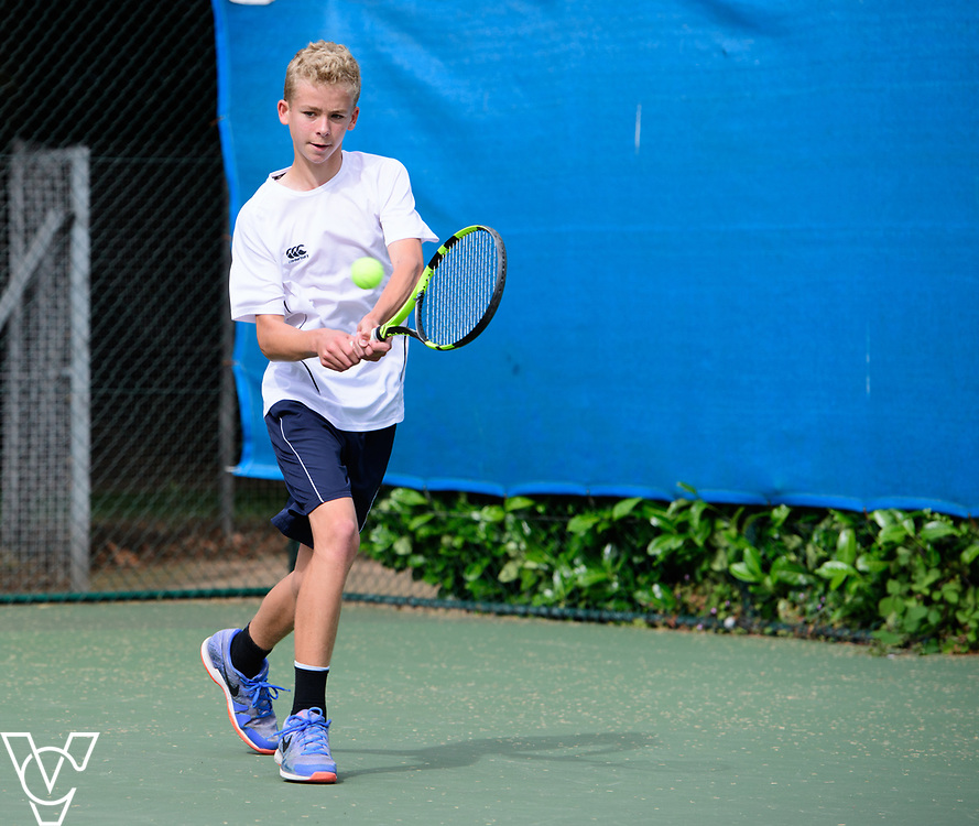 Glanville Cup - Sherfield School - Dean Cooper Kirby<br /> <br /> Team Tennis Schools National Championships Finals 2017 held at Nottingham Tennis Centre.  <br /> <br /> Picture: Chris Vaughan Photography for the LTA<br /> Date: July 14, 2017