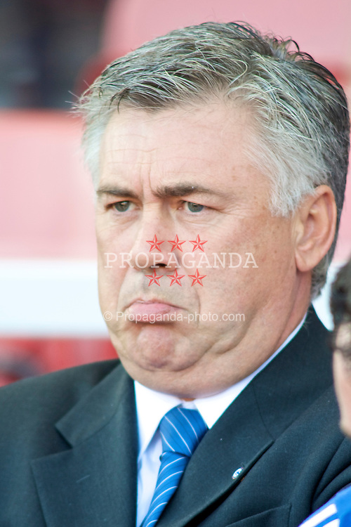 STOKE, ENGLAND - Saturday, September 12, 2009: Chelsea Manager Carlo Ancelotti during the Premiership match against Stoke City at the Britannia Stadium. (Pic by Gareth Davies/Propaganda)