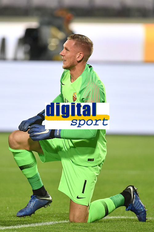 Patrick Robin Olsen of AS Roma reacts after committing the  penalty foul during the Serie A 2018/2019 football match between ACF Fiorentina and AS Roma at stadio Artemio Franchi, Firenze, November 03, 2018 <br />  Foto Andrea Staccioli / Insidefoto