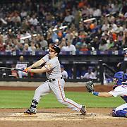 Travis Snider, Baltimore Orioles, batting during the New York Mets Vs Baltimore Orioles MLB regular season baseball game at Citi Field, Queens, New York. USA. 5th May 2015. Photo Tim Clayton