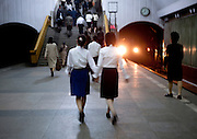 NORTH KOREA:<br /> The pictures Kim Jong Un doesn't want you to see<br /> <br /> Since 2008, Eric Lafforgue ventured to North Korea six times. Thanks to digital memory cards, I was able to save photos that I was forbidden to take or was told to delete by the minders.<br /> <br /> Photo Shows:  Pyongyang's subway system is the deepest in the world as it doubles as a bomb shelter. Someone saw me taking this picture and told me to delete it since it included the tunnel.<br /> ©Eric Lafforgue/Exclusivepix Media