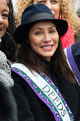 © Licensed to London News Pictures. 04/03/2018. London, UK.NATALIE IMBRUGLIA takes part in the #March4Women rally calling for gender equality. Photo credit: Ray Tang/LNP
