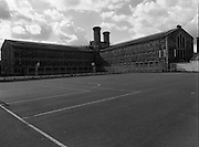 Women's Prison At Mountjoy.  (R98)..1989..16.03.1989..03.16.1989..16th March 1989..Mountjoy Prison for women originally opened in 1858 for female inmates of 18years and upwards. In 1956 due to the low number of women incarcerated the majority of the prison was handed over as a young male offender prison (St Patrick's Institution)..The women's section was transferred to the basement area of the existing building...An exterior view of the prison built in the Victorian Era (1858).