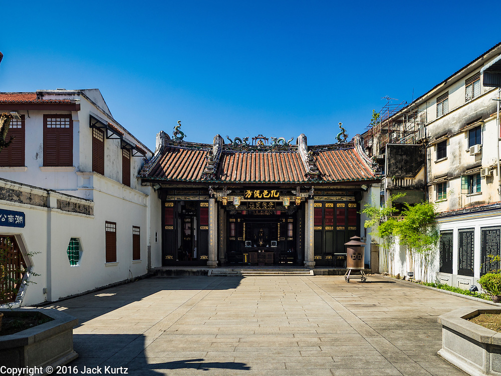 17 NOVEMBER 2016 - GEORGE TOWN, PENANG, MALAYSIA:  The Tokong Han Jiang Temple in George Town, Penang, Malaysia. George Town is a UNESCO World Heritage city and wrestles with maintaining its traditional lifestyle and mass tourism. The temple serves Penang's Teochow community.        PHOTO BY JACK KURTZ