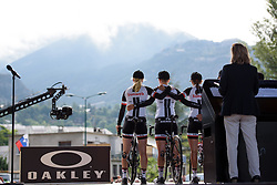 Team Sunweb sign on for La Course 2017 - a 67.5 km road race, from Briancon to Izoard on July 20, 2017, in Hautes-Alpes, France. (Photo by Sean Robinson/Velofocus.com)