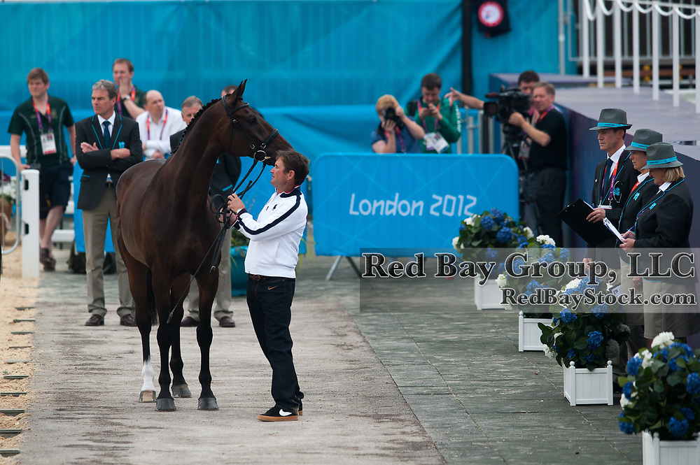 Phillip Dutton (USA) & Mystery Whisper - Eventing First Inspection - London 2012 Olympic Games - Greenwich Park, London, United Kingdom -  27 July 2012