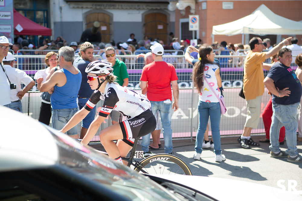 Julia Soek (NED) of Team Sunweb rides back to the team bus after Stage 9 of the Giro Rosa - a 122.3 km road race, between Centola fraz. Palinuro and Polla on July 8, 2017, in Salerno, Italy. (Photo by Balint Hamvas/Velofocus.com)