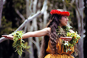 Hula dancer. Volcano, Hawaii, Big Island. USA.