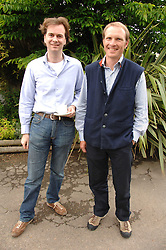 Left to right, ROBIN GURDON and the HON.WILL STANHOPE at a charity shoot in aid of the charity Save The Rhino held at the West London Shooting School, Northolt, Middlesex on 30th May 2008.<br />