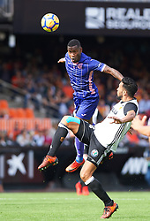 November 4, 2017 - Valencia, Valencia, Spain - Ezequiel Garay of Valencia CF and Claudio Beauvue of Club Deportivo Leganes in action during the La Liga match between Valencia CF and Club Deportivo Leganes at Estadio Mestalla, on november 4, 2017 in Valencia, Spain. (Credit Image: © Maria Jose Segovia/NurPhoto via ZUMA Press)