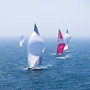 Hanuman, P2, and Ranger sailing in race 1 during the Newport Bucket Regatta.