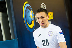 Birzhan Orazov of Kazakhstan during futsal match between Russia and Kazakhstan in Third place match of UEFA Futsal EURO 2018, on February 10, 2018 in Arena Stozice, Ljubljana, Slovenia. Photo by Ziga Zupan / Sportida