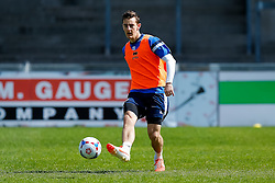 Tom Lockyer takes part in Bristol Rovers training before Sundays Vanamara Conference Play Off Final match against Grimsby Town at Wembley Stadium for promotion to the Football League 2 - Photo mandatory by-line: Rogan Thomson/JMP - 07966 386802 - 12/05/2015 - SPORT - FOOTBALL - Bristol, England - Memorial Stadium - Bristol Rovers Play Off Final Previews - Vanarama Conference Premier.