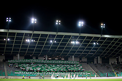 Supporters of NK Olimpija, Green Dragons during 1st Leg football match between NK Olimpija Ljubljana and FC Spartak Trnava in Play-offs of UEFA Europa League 2018/19, on August 23, 2018 in SRC Stozice, Ljubljana, Slovenia. Photo by Urban Urbanc / Sportida