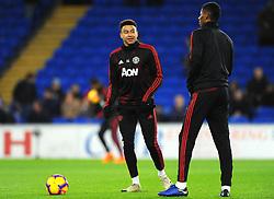 Jesse Lingard of and Marcus Rashford of Manchester United warm up  - Mandatory by-line: Nizaam Jones/JMP - 22/12/2018 -  FOOTBALL - Cardiff City Stadium - Cardiff, Wales-  Cardiff City v Manchester United - Premier League