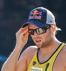 06.08.2011, Klagenfurt, Strandbad, AUT, Beachvolleyball World Tour Grand Slam 2011, im Bild Julius Brink GER, AUT , EXPA Pictures © 2011, PhotoCredit EXPA Gert Steinthaler