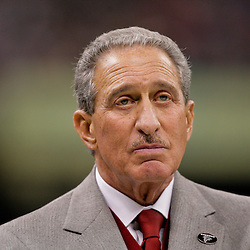 2009 November 02: Atlanta Falcons owner Arthur Blank watches from the sideline in the fourth quarter against the New Orleans Saints during a 35-27 win by the Saints over the Falcons at the Louisiana Superdome in New Orleans, Louisiana.
