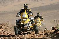 Motor<br /> Foto: Dppi/Digitalsport<br /> NORWAY ONLY<br /> <br /> MOTORSPORT - DAKAR 2007 - STAGE 8 - ATAR . TICHIT 14/01/2007 <br /> <br /> QUAD - ANTONE MOREL - ALAIN MOREL (FRA) / CAN AM - ACTION