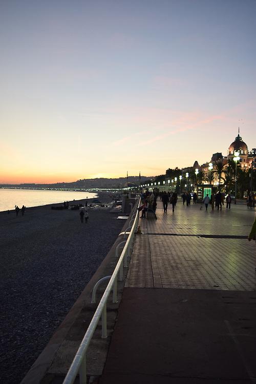Promenade Des Anglais at Sunset